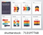 set with infographics. data and ... | Shutterstock .eps vector #713197768