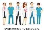 doctors team | Shutterstock .eps vector #713199172