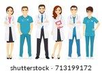 doctors team | Shutterstock .eps vector #713199172