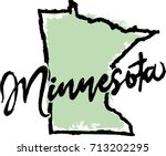 Hand Drawn Minnesota State...