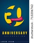 anniversary emblems 30... | Shutterstock .eps vector #713206762