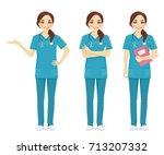nurse set | Shutterstock .eps vector #713207332