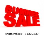 summer sale red sign isolated... | Shutterstock . vector #71322337
