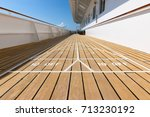 shuffleboard game on wooden... | Shutterstock . vector #713230192