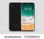 realistic conceptual smart... | Shutterstock .eps vector #713230312