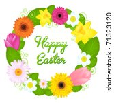 wreath from various colors and... | Shutterstock .eps vector #71323120