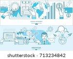 financial management  analysis... | Shutterstock .eps vector #713234842