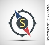 compass icon with dollar sign.... | Shutterstock .eps vector #713235286
