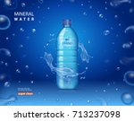 drinking mineral water bottle... | Shutterstock .eps vector #713237098