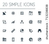 vector illustration set of... | Shutterstock .eps vector #713238838