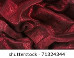 Golden Red Textile Background