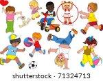 children | Shutterstock .eps vector #71324713