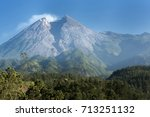 views of mountain peaks | Shutterstock . vector #713251132