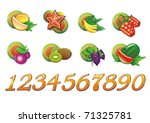 fruits icons and numerals for... | Shutterstock .eps vector #71325781