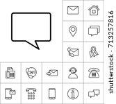 line chat  speech bubble icon... | Shutterstock .eps vector #713257816