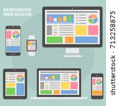 responsive web design flat...
