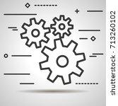 flat line design graphic image... | Shutterstock .eps vector #713260102