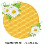 honeycomb background with...