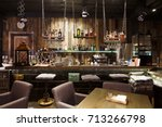 interior of cozy restaurant.... | Shutterstock . vector #713266798