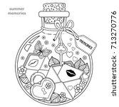 vector coloring book for adults.... | Shutterstock .eps vector #713270776