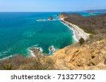 los frailes beach  machalilla... | Shutterstock . vector #713277502