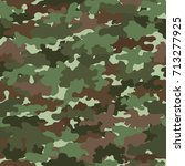 green camouflage  seamless...   Shutterstock .eps vector #713277925