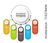 business infographic elements | Shutterstock .eps vector #713278696