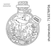 vector coloring book for adults.... | Shutterstock .eps vector #713278936