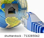 global internet communication... | Shutterstock . vector #713285062