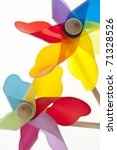 Colorful Pinwheel Background Summer Concept Border Image - stock photo