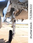 Small photo of Military aircraft landing gear