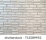 white clean tile wall texture | Shutterstock . vector #713289952