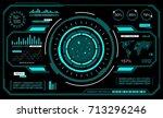 hud interface futuristic.... | Shutterstock .eps vector #713296246