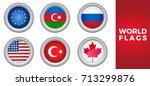 set of world european flags...
