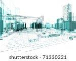 architectural design of modern... | Shutterstock . vector #71330221