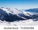 view of alps in zillertal... | Shutterstock . vector #713302486