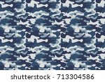 horizontal banner seamless... | Shutterstock .eps vector #713304586