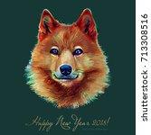 dog  chinese zodiac symbol of... | Shutterstock .eps vector #713308516