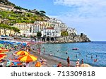amalfi. amalfi coast. italy.... | Shutterstock . vector #713309818