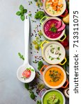 variety of colorful vegetables...   Shutterstock . vector #713311075