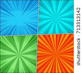 comic book page backgrounds set ...   Shutterstock .eps vector #713313142
