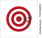 Target Bullseye Or Arrow On...