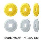 Gold China Vector Coins Set....