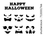 collection of halloween... | Shutterstock .eps vector #713331766