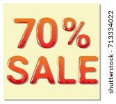 "banner ""70  sale"". isolated tag.... 