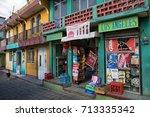 january 3  2015 san pedro la... | Shutterstock . vector #713335342