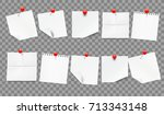 set of white realistic notes... | Shutterstock .eps vector #713343148
