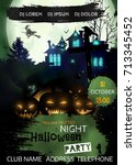 halloween night  party.  ideal... | Shutterstock .eps vector #713345452