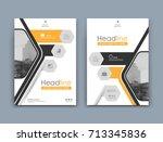 white info card mockup. a4... | Shutterstock .eps vector #713345836