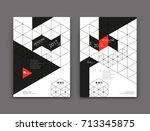 white  black book binder mockup.... | Shutterstock .eps vector #713345875